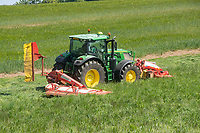 1-6-2021 Mowing grass silage in the Lincolnshire Wolds <br /> ©Tim Scrivener Photographer 07850 303986<br />      ....Covering Agriculture In The UK....