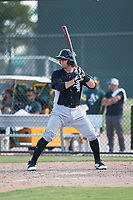 Chicago White Sox catcher Michael Hickman (26) at bat during an Instructional League game against the Oakland Athletics at Lew Wolff Training Complex on October 5, 2018 in Mesa, Arizona. (Zachary Lucy/Four Seam Images)