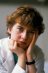 Dr Maura Stafford under stress long hours often 80 hr shift over weekend and 57 hrs without a break. Royal United Hospital Bath Hospital Somerset  1989. 1980s UK
