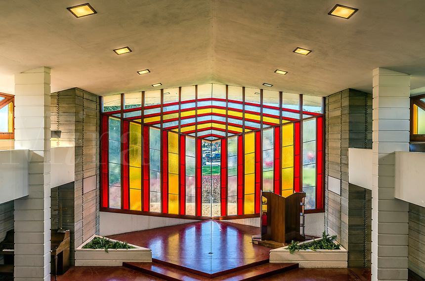 Danforth Chapel designed by Frank Loyd Wright, Florida, Florida Southern College, Lakeland, USA