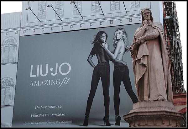 Italy, Venice. Humorous Juxtaposition.