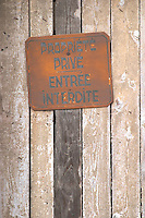 sign private property no entry andlau alsace france