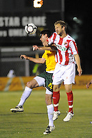 Jeff Cosgriff #20, Jay Needham...AC St Louis were defeated 1-2 by Austin Aztek in their inaugural home game in front of 5,695 fans at Anheuser-Busch Soccer Park, Fenton, Missouri.