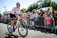 Polka Dot Jersey / KOM leader Tim Wellens (BEL/Lotto Soudal) at the race start. <br /> <br /> Stage 5: Saint-Dié-des-Vosges to Colmar (175km)<br /> 106th Tour de France 2019 (2.UWT)<br /> <br /> ©kramon