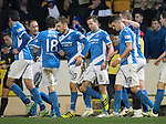 St Johnstone v Rangers…28.12.16     McDiarmid Park    SPFL<br />Steven MacLean celebrates his goal<br />Picture by Graeme Hart.<br />Copyright Perthshire Picture Agency<br />Tel: 01738 623350  Mobile: 07990 594431