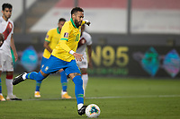 13th October 2020; National Stadium of Peru, Lima, Peru; FIFA World Cup 2022 qualifying; Peru versus Brazil; Neymar of Brazil scores his penalty goal in the 28th minute 1-1