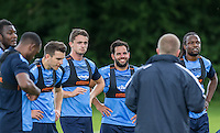 Players listen to the coach during the Wycombe Wanderers 2016/17 Pre Season Training Session at Wycombe Training Ground, High Wycombe, England on 1 July 2016. Photo by Andy Rowland / PRiME Media Images.