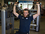 St Johnstone Pre-Season Training in Northern Ireland.. 08.07.16<br />Keeper Zander Clark pictured in the gym at the team hotel near Belfast<br />Picture by Graeme Hart.<br />Copyright Perthshire Picture Agency<br />Tel: 01738 623350  Mobile: 07990 594431