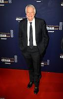 AndrÈ Dussolier ‡ la 42e CÈrÈmonie des CÈsars ‡ l'arrivÈe sur le tapis rouge de la salle Pleyel ‡ Paris le 24 fÈvrier 2017