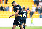 St Johnstone v Dundee…25.08.18…   McDiarmid Park     SPFL<br />A  dejected Steven Caulker at full time<br />Picture by Graeme Hart. <br />Copyright Perthshire Picture Agency<br />Tel: 01738 623350  Mobile: 07990 594431