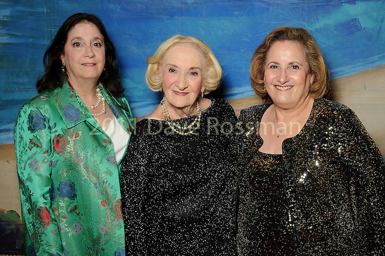"""From left: Betsy Garlinger, honoree Sybil Roos and Cathey Cook at the 2016 Houston Symphony Gala """"Carnaval"""" at Jones Hall Saturday May 14,2016(Dave Rossman Photo)"""