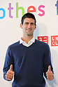 Press Conference for UNIQLO and Novak Djokovic Clothes for Smiles Project