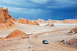 Thunderstorm developing in Valle De La Luna in the Atacama Desert near San Pedro de Atacama, Chile.
