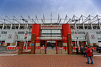 Exterior view of the stadium prior to the Sky Bet Championship match between Middlesbrough and Swansea City at the Riverside Stadium, Middlesbrough, England, UK. Saturday 22 September 2018