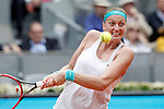 Petra Kvitova, Czech Republic, during Madrid Open Tennis 2015 match.May, 8, 2015.(ALTERPHOTOS/Acero)
