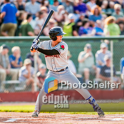 20 August 2017: Connecticut Tigers outfielder Garrett McCain, a 10th round draft pick for the Detroit Tigers, in action against the Vermont Lake Monsters at Centennial Field in Burlington, Vermont. The Lake Monsters rallied to edge out the Tigers 6-5 in 13 innings of NY Penn League action.  Mandatory Credit: Ed Wolfstein Photo *** RAW (NEF) Image File Available ***
