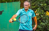Hilversum, The Netherlands,  August 20, 2021,  Tulip Tennis Center, NKS, National Senior Tennis Championships, Men's single 60+, Frits Raijmakers (NED)<br /> Photo: Tennisimages/Henk Koster