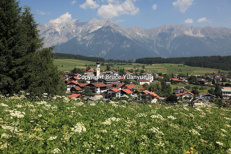 The view of village of Mutters. Innsbruck. Austria