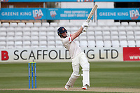 Ben Allison hits 4 runs for Essex during Essex CCC vs Worcestershire CCC, LV Insurance County Championship Group 1 Cricket at The Cloudfm County Ground on 9th April 2021