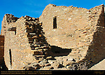 South Wall Detail, Pueblo del Arroyo Chacoan Great House, Anasazi Hisatsinom Ancestral Pueblo Site, Chaco Culture National Historical Park, Chaco Canyon, Nageezi, New Mexico