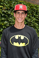 Bryan Hoeing (37) of Batesville High School in Batesville, Indiana poses for a photo during practice before the Under Armour All-American Game on August 16, 2014 at Wrigley Field in Chicago, Illinois.  (Mike Janes/Four Seam Images)
