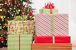 USA, Illinois, Metamora,  Close up of Christmas presents
