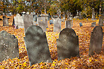 A cemetery in the Ipswich Historic District, Ipswich, MA, USA