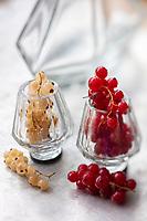 Gastronomie générale / Diététique / Groseilles  à maquereau, rouges et blanches ,bio AB// General gastronomy / Diet / Gooseberries, red and white, organic AB