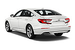 Car pictures of rear three quarter view of a 2018 Honda Accord EX 4 Door Sedan angular rear