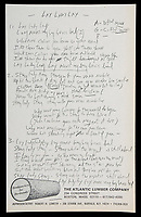 Lay Lady £500k - Bob Dylan's working lyrics for his classic hit song 'Lay Lady Lay up for auction