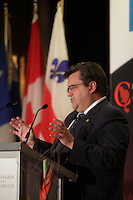 Montreal- CANADA - October 20 - The Mayor of Montreal, Denis Coderre, delivers a speech to the Canadian Club of Montreal on October 20, 2014.<br /><br />Photo : Agence Quebec Pressse - Pierre Roussel
