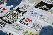 Rio de Janeiro, Brazil. T-shirts for sale on Ipanema beach.