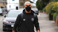 Said Benrahma of Brentford arrives at the ground ahead of kick-off during Brentford vs Charlton Athletic, Sky Bet EFL Championship Football at Griffin Park on 7th July 2020