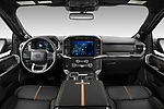 Stock photo of straight dashboard view of 2021 Ford F-150 Platinum 4 Door Pick-up Dashboard