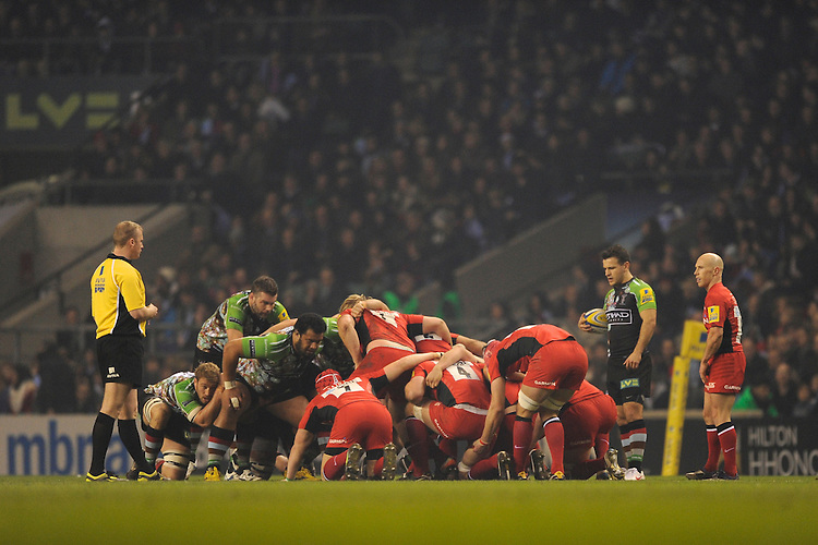 during the Aviva Premiership match between Harlequins and Saracens at Twickenham on Tuesday 27 December 2011 (Photo by Rob Munro)