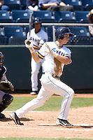 Everett AquaSox shortstop Marcus Littlewood #9 at bat during a game against the Eugene Emeralds at Everett Memorial Stadium on June 26, 2011 in Everett, WA.  Eugene defeated Everett 14-4.  (Ronnie Allen/Four Seam Images)