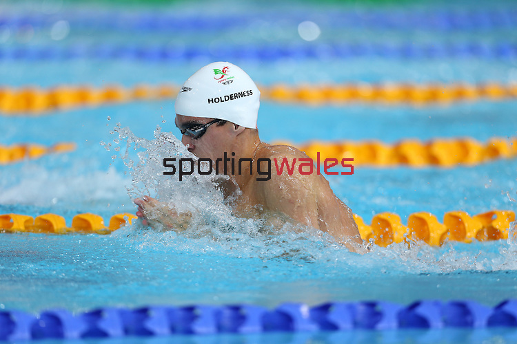 Glasgow 2014 Commonwealth Games<br /> Men's 50m Breaststroke heats<br /> Rob Holderness (Wales)<br /> Tollcross Swimming Centre<br /> 27.07.14<br /> ©Steve Pope-SPORTINGWALES
