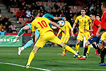 Spain's Unai Simon and Romania's Dragus Denis  during the International Friendly match on 21th March, 2019 in Granada, Spain. (ALTERPHOTOS/Alconada)