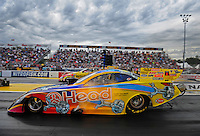 Sept. 30, 2011; Mohnton, PA, USA: NHRA funny car driver Jim Head during qualifying for the Auto Plus Nationals at Maple Grove Raceway. Mandatory Credit: Mark J. Rebilas-