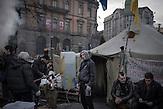 Lemberg nach dem Sturz Janukowitschs am 24.02.2014 / Lviv after the fall of Yanukovich - Zelte der Demonstranten / Tents of the protestors