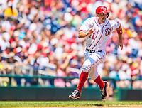 25 July 2013: Washington Nationals third baseman Ryan Zimmerman hustles home to score during a game against the Pittsburgh Pirates at Nationals Park in Washington, DC. The Nationals salvaged the last game of their series, winning 9-7 ending their 6-game losing streak. Mandatory Credit: Ed Wolfstein Photo *** RAW (NEF) Image File Available ***