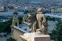 Spanien, Katalonien, Barcelona, Blick vom Palau Nacional