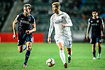 Auckland City Defender Alfie Rogers (r) is chased by Fernando Recio of SC Kitchee (l) during the Nike Lunar New Year Cup 2017 match between SC Kitchee (HKG) and Auckland City FC (NZL) on January 31, 2017 in Hong Kong, Hong Kong. Photo by Marcio Rodrigo Machado / Power Sport Images