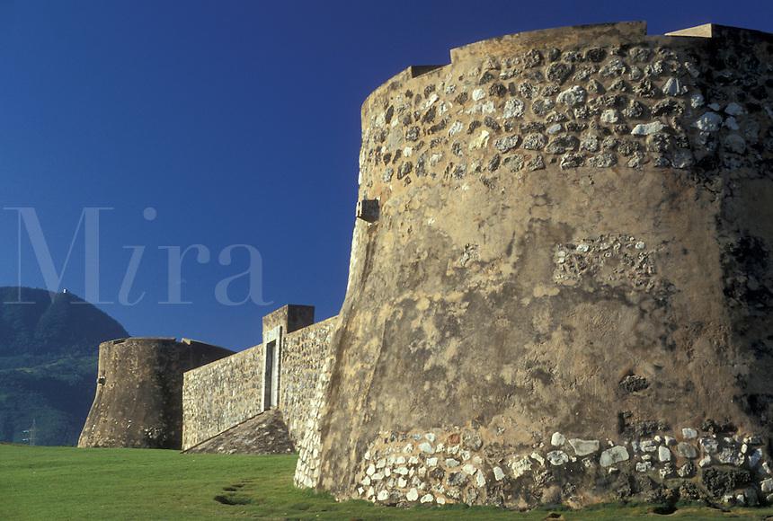 AJ2298, fort, Dominican Republic, Puerto Plata, Caribbean, Fort of San Felipe in the Dominican Republic.
