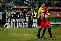 SÃO PAULO, SP 08.05.2019: PALMEIRAS-SAN LORENZO (ARG) - Gustavo Scarpa marca o primeiro gol. Palmeiras e San Lorenzo-ARG, em jogo válido pela sexta rodada da Libertadores, no Allianz Parque, zona oeste da capital, na noite desta quarta-feira (08). (Foto: Ale Frata/Codigo19)