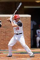 Jeremy Baltz #18 of the St. John's Red Storm at bat against the VCU Rams at the Charlottesville Regional of the 2010 College World Series at Davenport Field on June 5, 2010, in Charlottesville, Virginia.  The Red Storm defeated the Rams 8-6.  Photo by Brian Westerholt / Four Seam Images