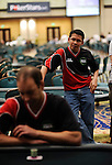 Team Canada captain, Darus Suharto, watches the action during round 2