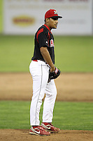 Batavia Muckdogs pitcher Daniel Miranda #40 delivers a pitch during a game against the Mahoning Valley Scrappers at Dwyer Stadium on July 4, 2011 in Batavia, New York.  Batavia defeated Mahoning Valley 3-2.  (Mike Janes/Four Seam Images)