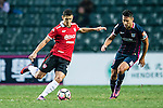 Muangthong United Forward Cleiton Silva (l) is chased by Thomas Lam of SC Kitchee (r) during the 2017 Lunar New Year Cup match between SC Kitchee (HKG) vs Muangthong United (THA) on January 28, 2017 in Hong Kong, Hong Kong. Photo by Marcio Rodrigo Machado/Power Sport Images