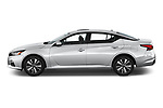 Car driver side profile view of a 2020 Nissan Altima SL 4 Door Sedan
